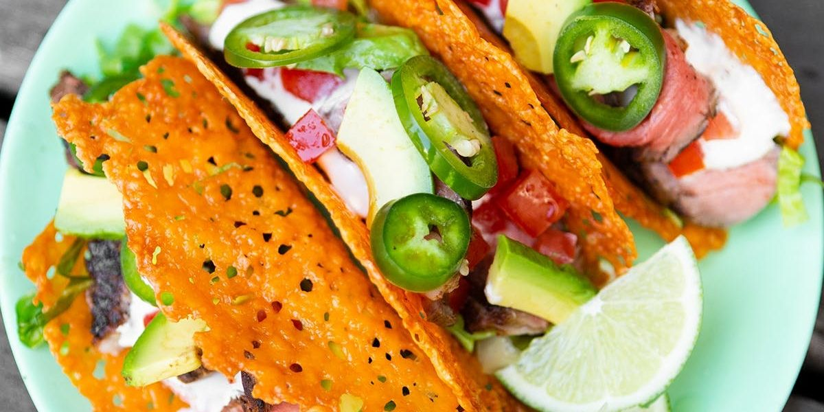 Try This Keto-Friendly Steak Taco With Cheese Shell Recipe