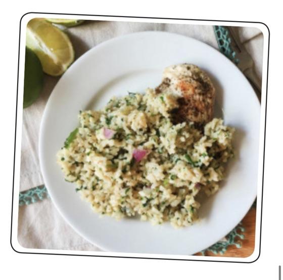 Chicken with Cauliflower Salad
