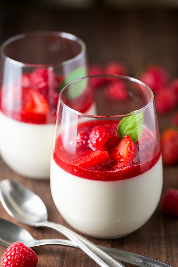 Panna Cotta With Berry Sauce (Video Recipe) - Natashaskitchen.Com