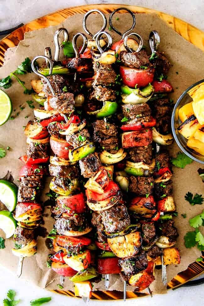 Brazilian Steak Kabobs With Potatoes