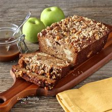 Warm Caramel Apple Pie Bread (GF)