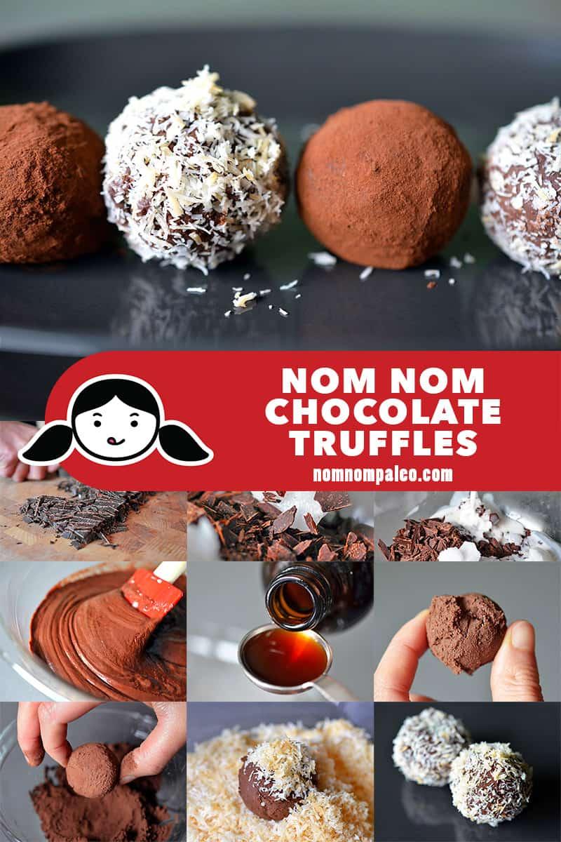 Nom Nom Chocolate Truffles - Nom Nom Paleo®