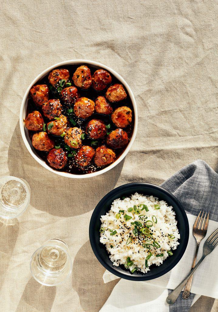 Boulettes De Porc Asiatiques & Sauce Au Gingembre Et Au Sésame - Trois Fois Par Jour