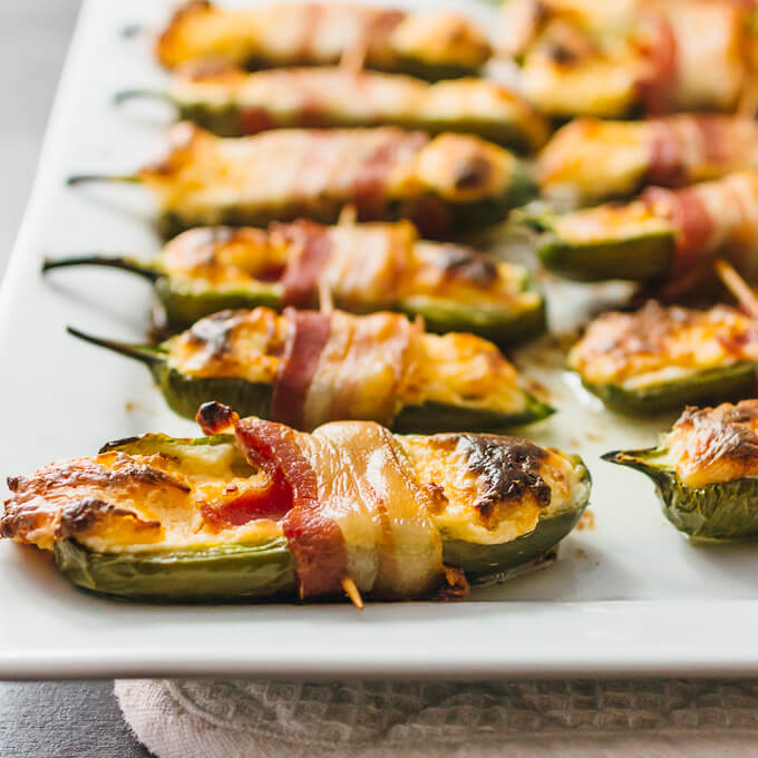 Bacon Wrapped Jalapeño Peppers Stuffed With Cream Cheese - Savory Tooth