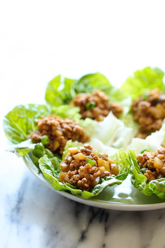 Damn Delicious - PF Chang's Chicken Lettuce Wraps PF Chang's Chicken Lettuce Wraps