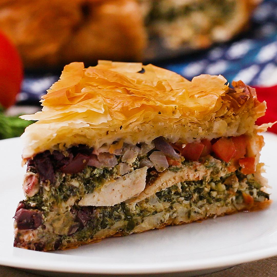 Chicken Breast: Spinach Feta Pie