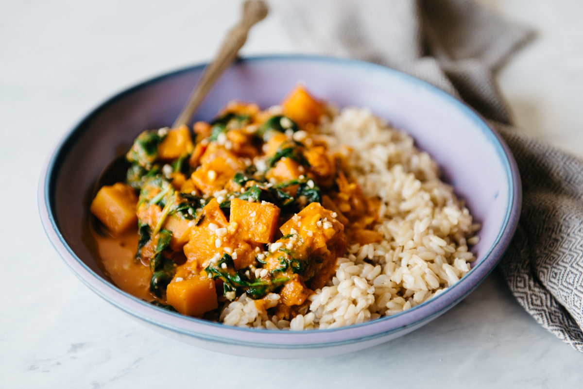 Delicious Vegan Butternut Squash Curry