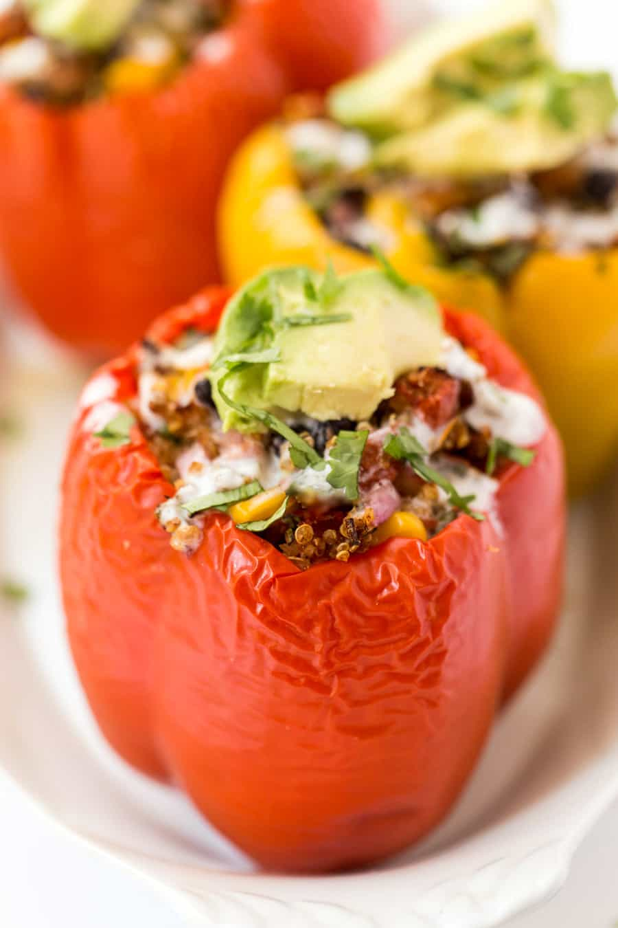 Mexican Quinoa Stuffed Peppers Recipe