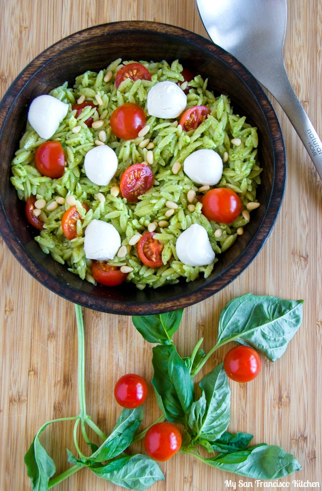 Caprese Orzo Pasta Salad | My San Francisco Kitchen
