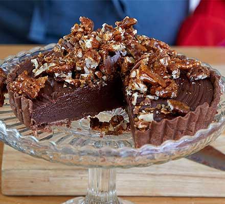 Sea-Salted Chocolate & Pecan Tart