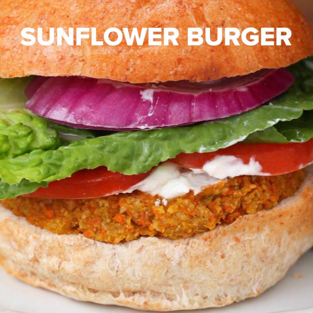 Sunflower Veggie Burgers