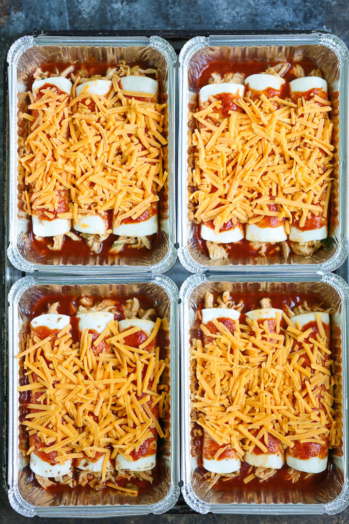 Freezer Chicken Enchiladas - Damn Delicious
