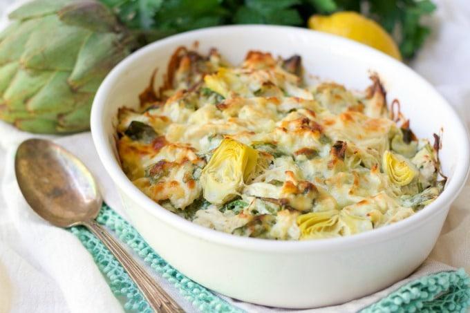 Healthy Spinach Artichoke Chicken Casserole | Recipes To Nourish