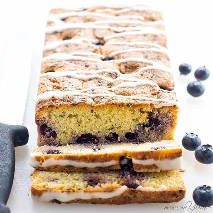 Low Carb Lemon Blueberry Zucchini Bread Recipe With Almond Flour