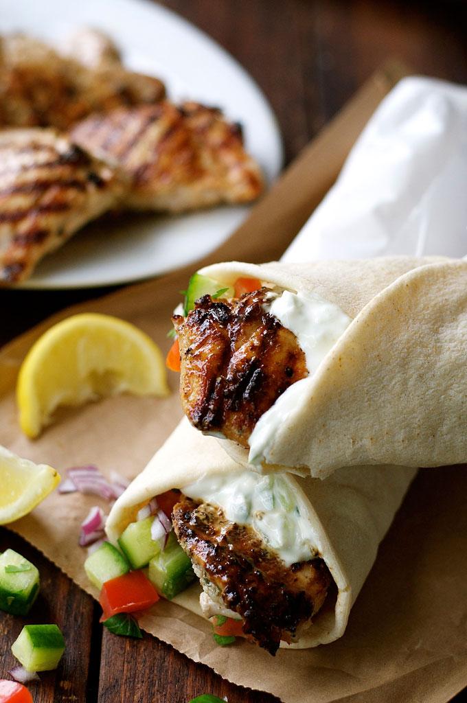Greek Chicken Gyros with Tzatziki   RecipeTin Eats