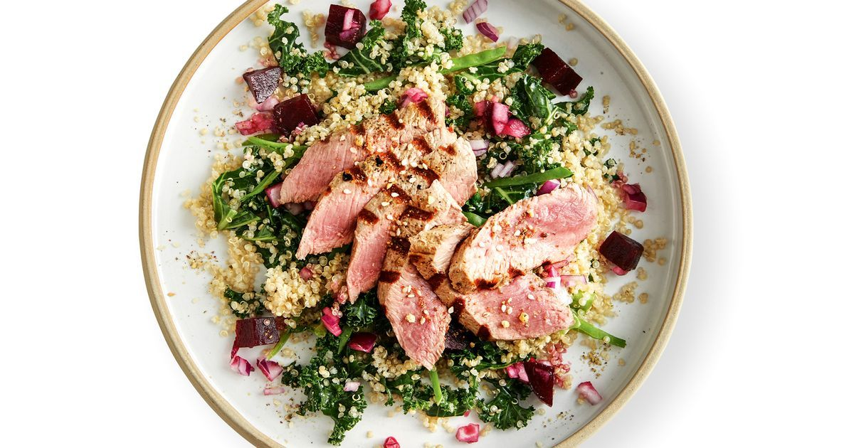 Grilled Lamb, Pickled Beetroot & Quinoa Salad