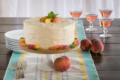 OLD-FASHIONED PEACH CAKE WITH PEACH CREAM CHEESE FROSTING