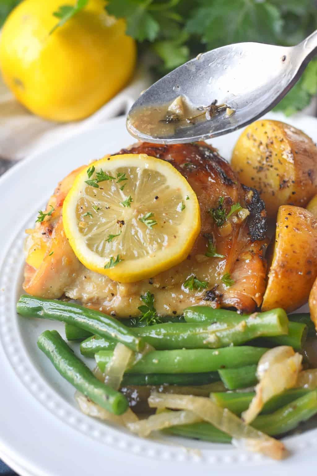Slow Cooker Lemon Honey Chicken And Vegetables