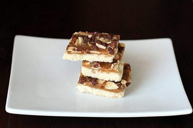 Almond Crunch Toffee Bars - The Kitchen Magpie