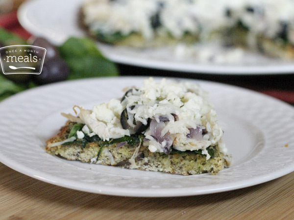Guilt-Free Greek Pizza | Once A Month Meals