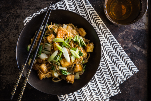 Mee Goreng with Tofu and Bok Choy