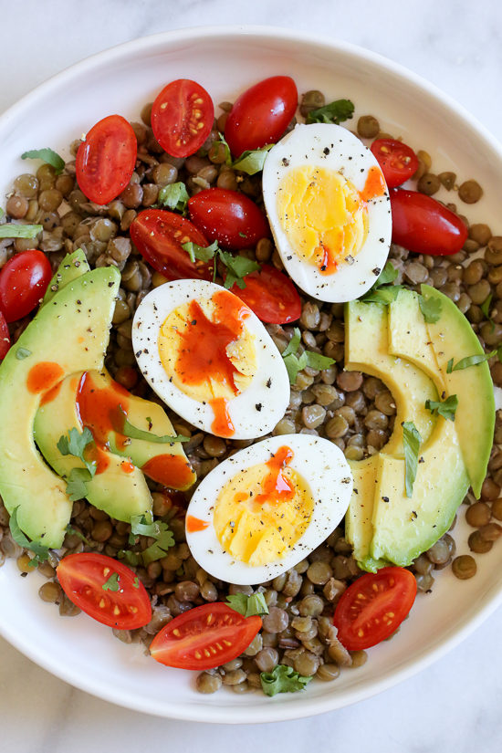 Lentil Bowls With Avocado, Eggs And Cholula | Skinnytaste