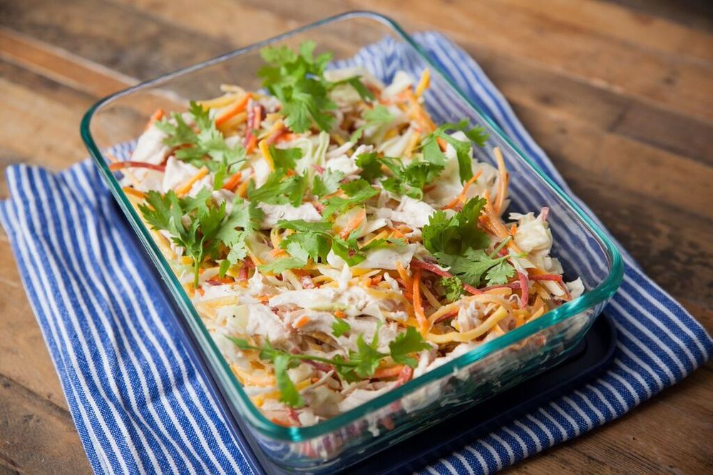 Shredded Chicken Slaw