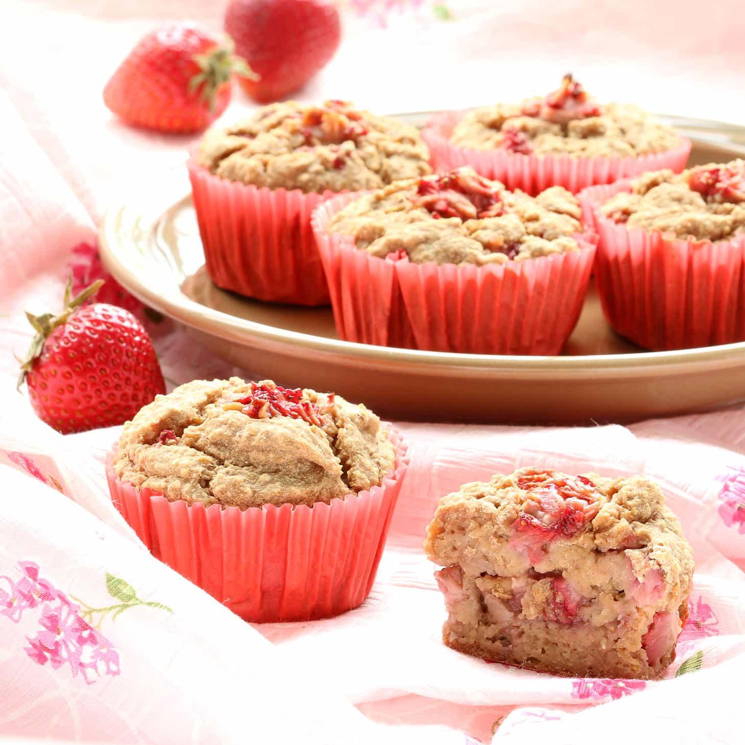 Easy Strawberry Blender Muffins (Gluten-Free)