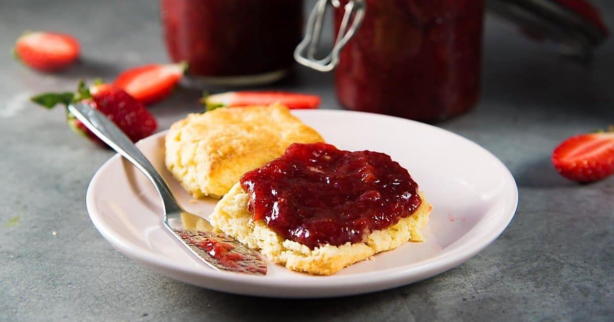 Homemade Strawberry Jam (Reduced Sugar, No Pectin)