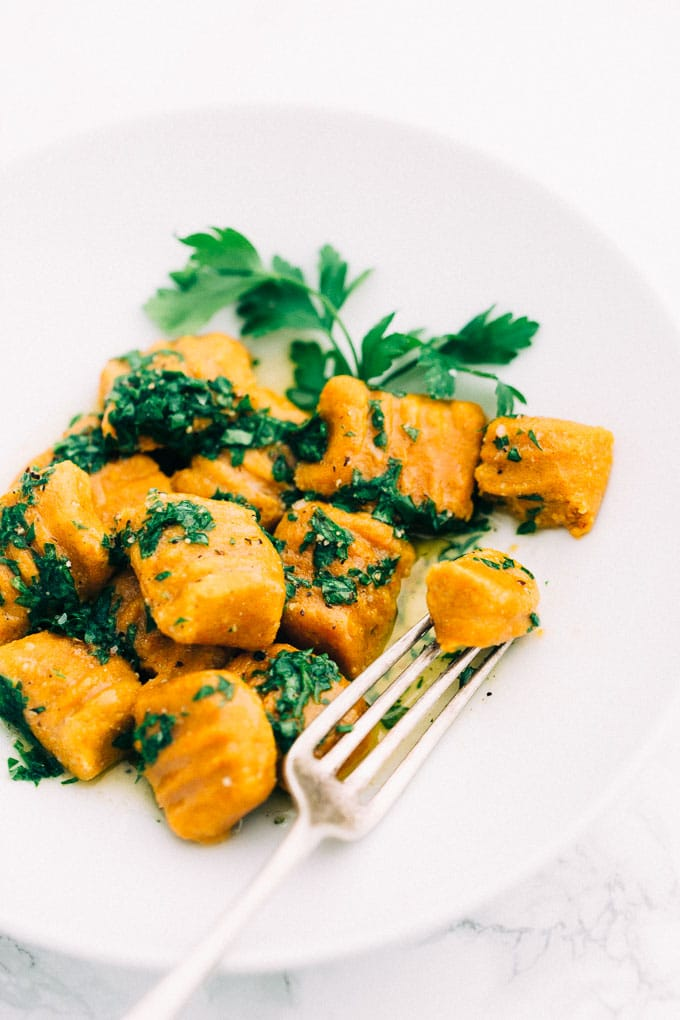 Vegan Gluten-Free Carrot Gnocchi - Blissful Basil