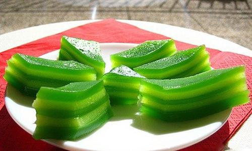 Banh da lon recipe - Vietnamese steamed  layer cake
