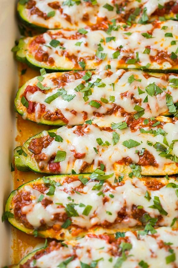 Lasagna-Stuffed Zucchini Boats Recipe - Cooking Classy