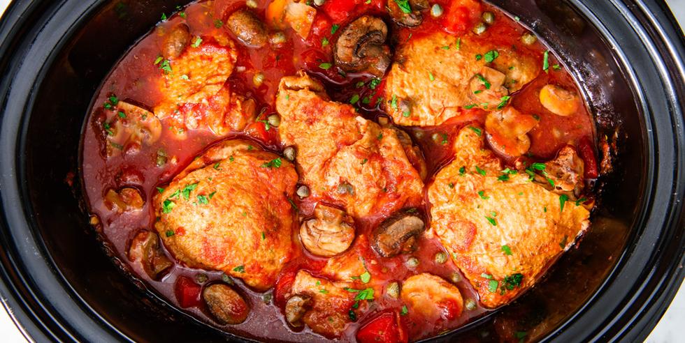 Chicken Thighs: Slow-Cooker Chicken Cacciatore
