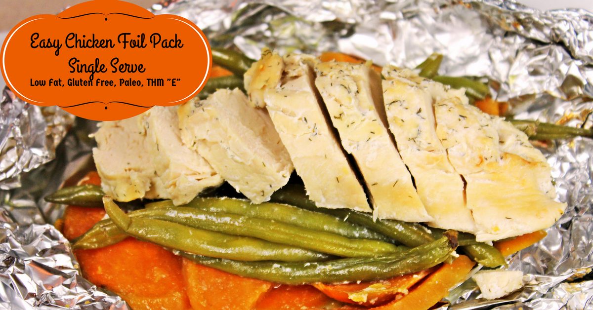 Easy Chicken Foil Packet Lunch, Low Fat And Gluten Free - My Table Of Three