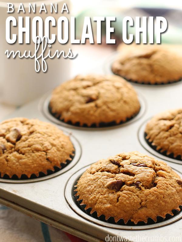 Banana Chocolate Chip Muffins: Yummy Recipe