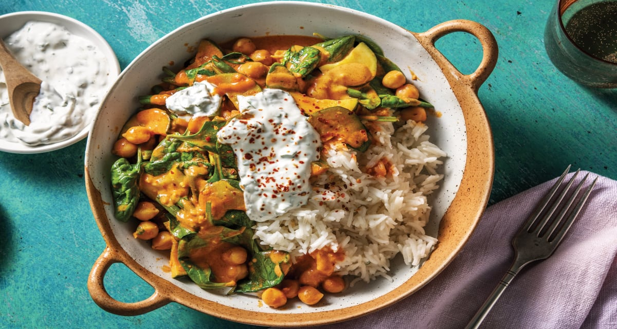 Creamy Chickpea & Spinach Curry