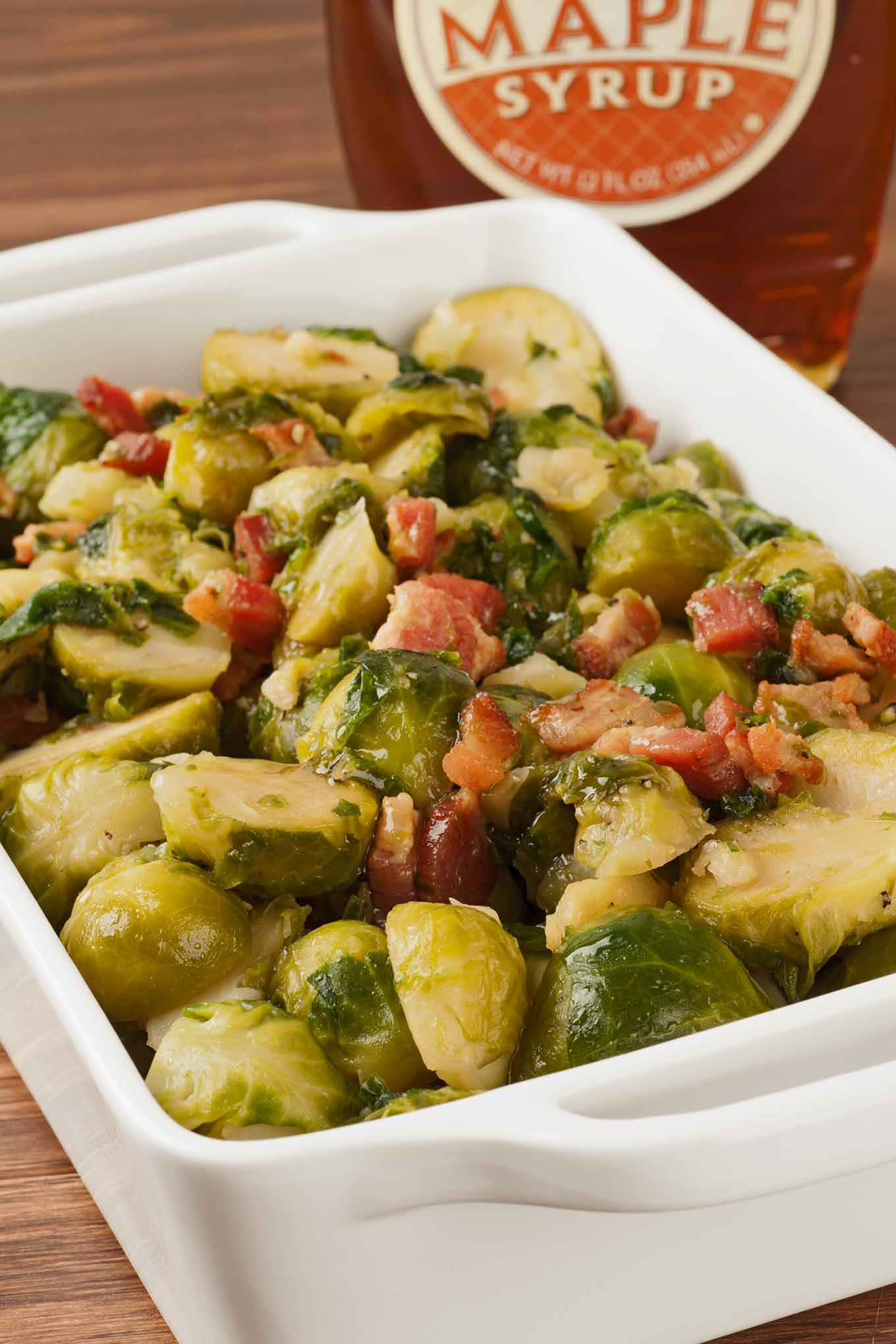 Maple-Glazed Brussels Sprouts With Bacon • Mygourmetconnection