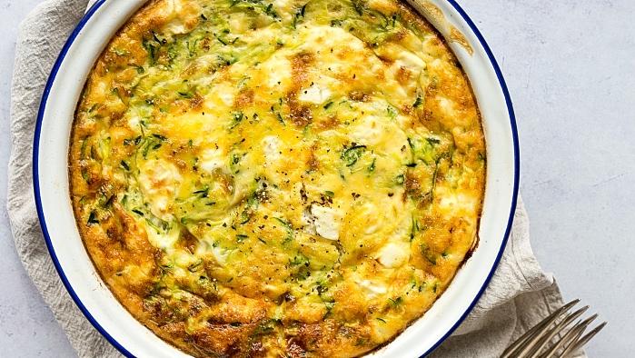 Zucchini And Feta Frittata (Gluten-Free, Low-Carb, Low-Fodmap)