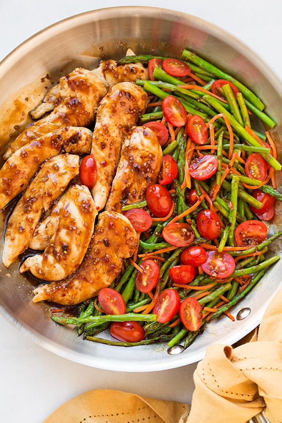 One Pan Balsamic Chicken And Veggies - Cooking Classy
