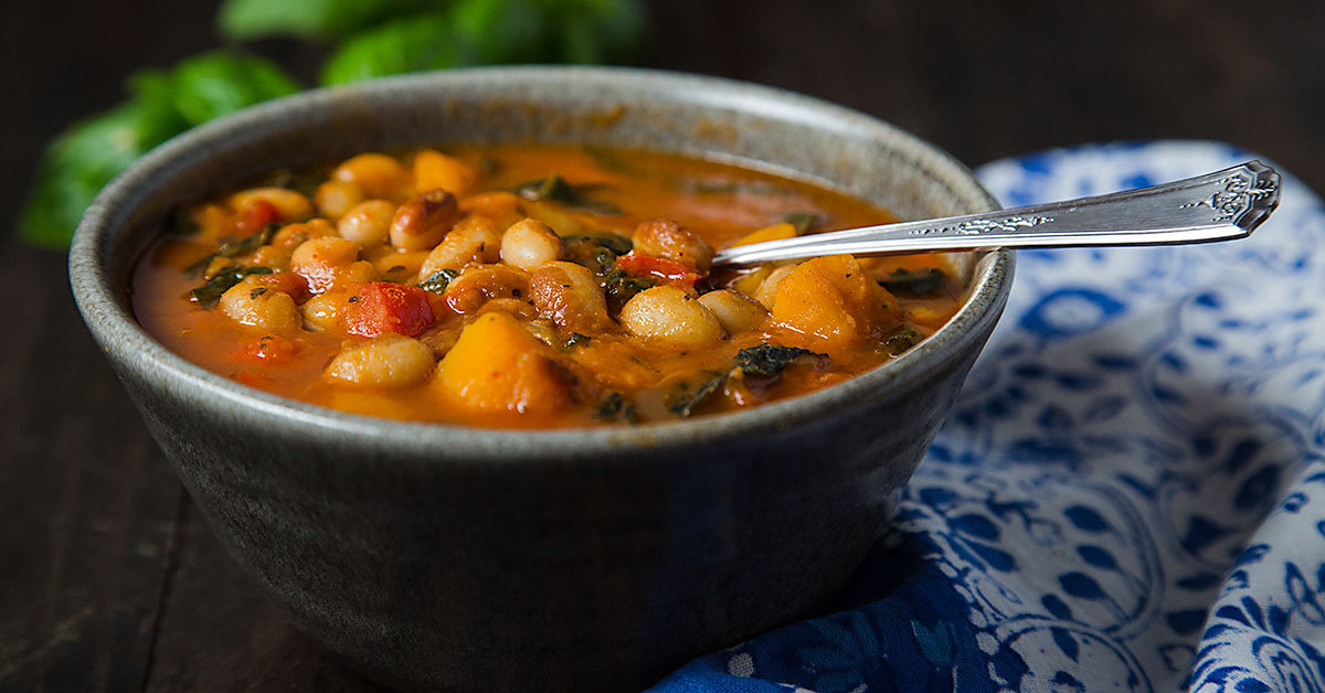 White Bean Stew With Winter Squash And Kale Recipe
