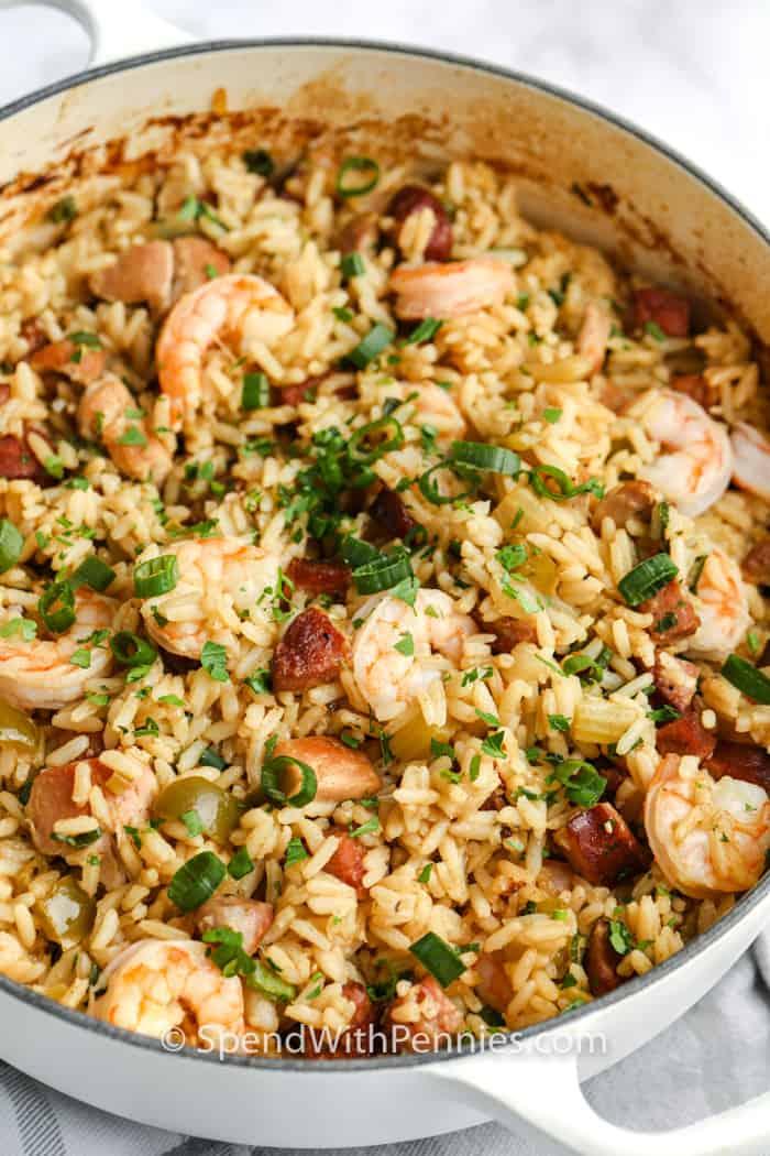 Stew: Cajun Jambalaya (With Chicken, Shrimp, & Sausage!) - Spend With Pennies