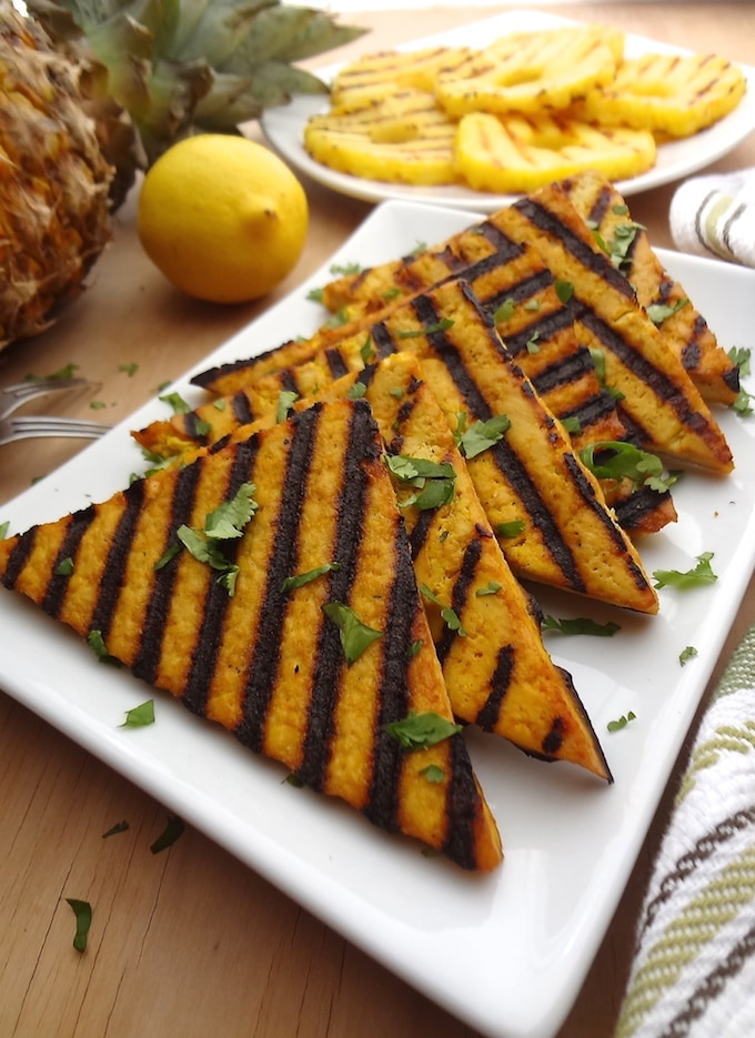 Grilled Lemon Pineapple Tofu