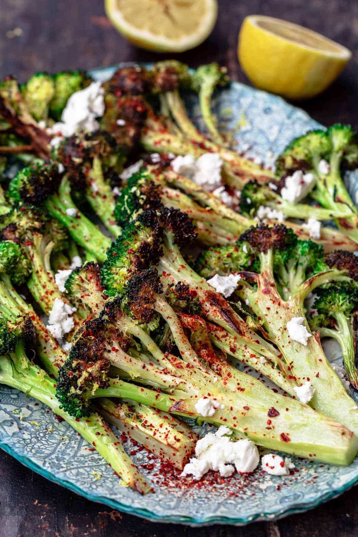 Broccoli: Oven Roasted Broccoli With Lemon   The Mediterranean Dish