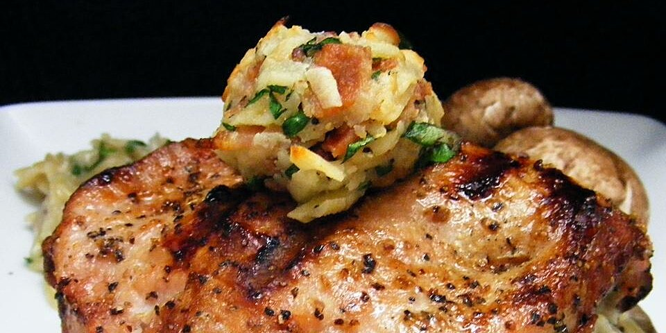 Pork Chops: Stuffed With Smoked Gouda And Bacon