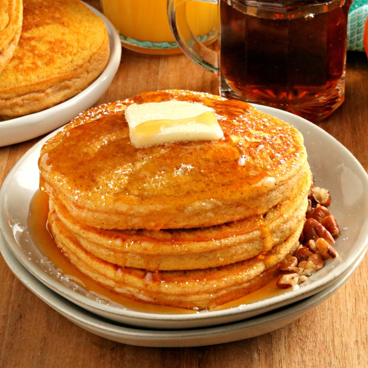 Gluten-Free Pumpkin Pancakes {Dairy-Free & Vegan Options}