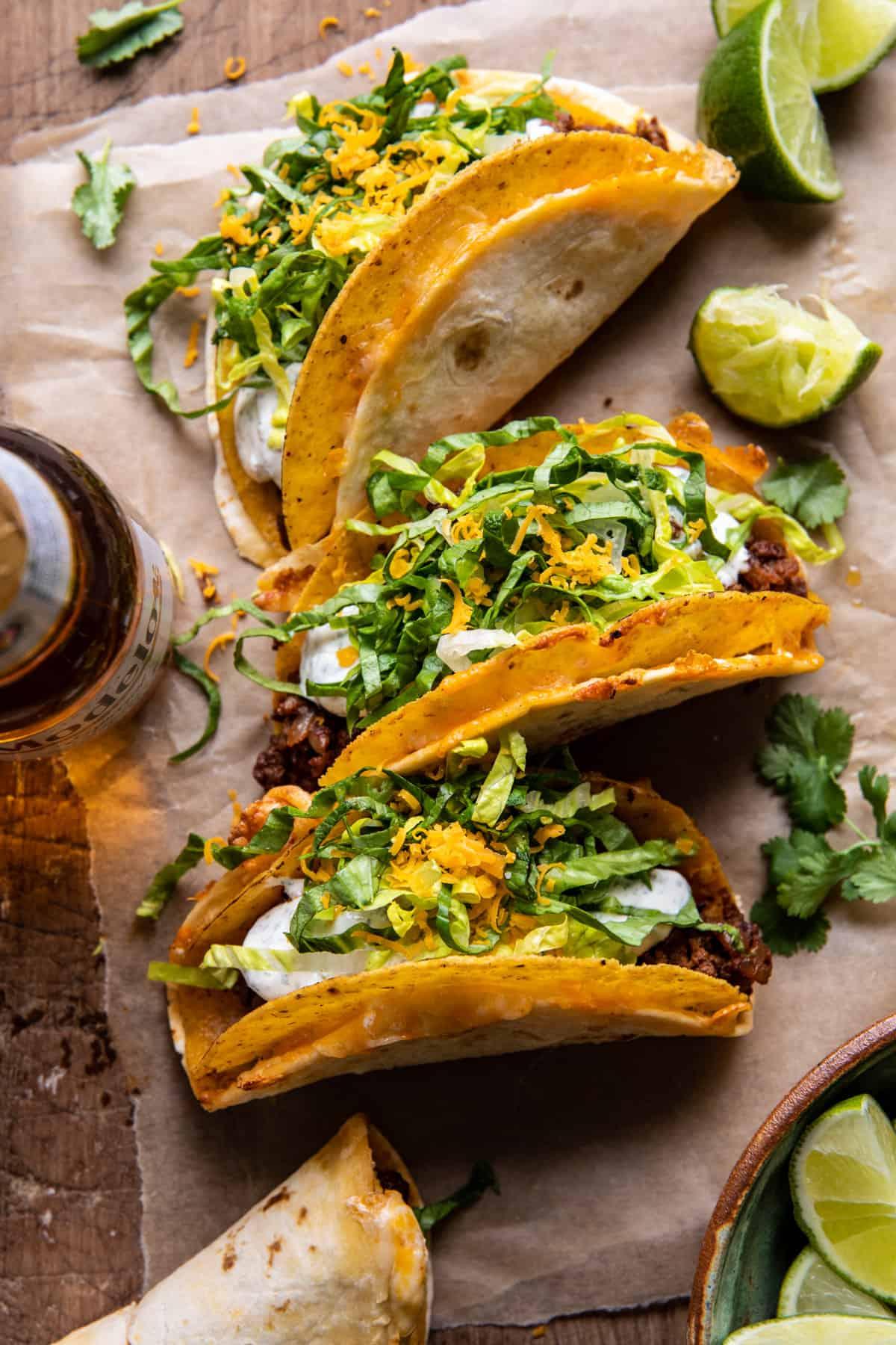 Homemade Cheesy Gordita Crunch Tacos. - Half Baked Harvest Homemade Cheesy Gordita Crunch Tacos.