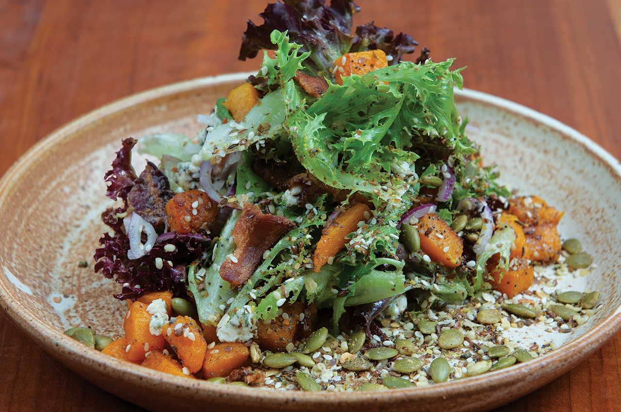 Honeynut Squash Salad With Blue Cheese
