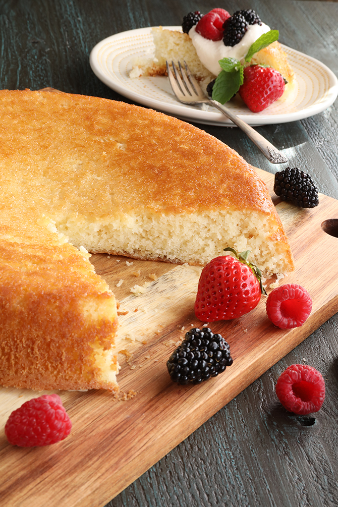 Old Fashioned Skillet Cake (Or Plain Cake)