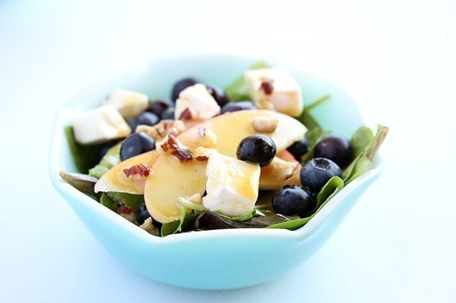 Blueberry Apple Swiss Salad with Dijon Mustard Vinaigrette | The Kitchen Magpie