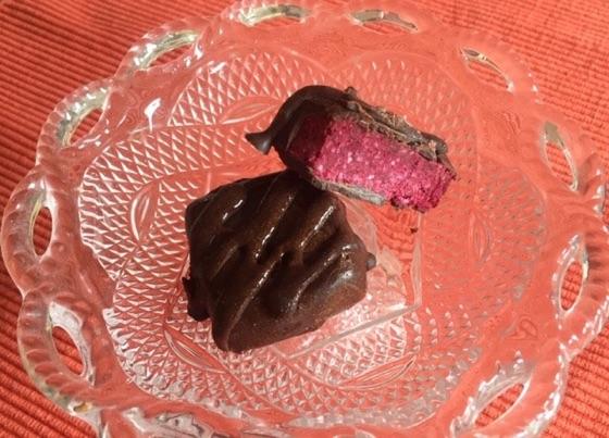 Raw Beet And Coconut Chocolates